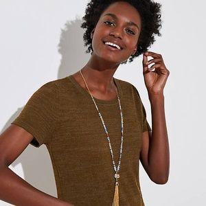 LOFT Women's Long Tassel Beaded Necklace - NWT